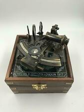 Beautiful Hand-Made Brass Working German Navigational Sextant With Wooden Box