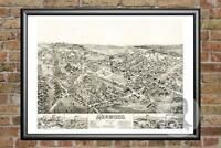 Old Map of Norwood, MA from 1882 - Vintage Massachusetts Art, Historic Decor
