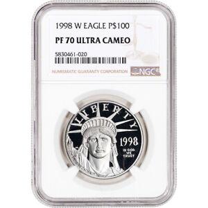 1998 W American Platinum Eagle Proof 1 oz $100 - NGC PF70 UCAM