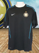 NIKE  INTER MILAN FOOTBALL Training Pre Match Shirt Navy Blue M