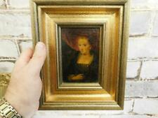 really old PAINTING antique miniature oil portrait
