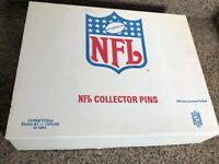 FRAMED PETER DAVID PIN SET 1985 NFL COCA COLA COKE IN ORIGINAL BOX #'d 3908