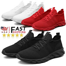 Mens Tennis Workout Lightweight Shoes Arch Support Gym Fashion Casual Sneakers