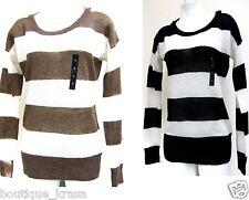 NWT Banana Republic Stripe Long Sleeve Round Neckline Knit Sweater