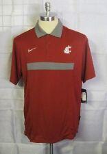 Nike Washington State Cougars NCAA Hot Route Crimson Polo Shirt 2XL New W/ Tags