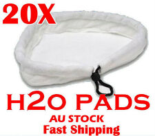 20x white washable Pads 1500W Floor Steam Mop Pad Steaming Cleaning 24x24x27CM