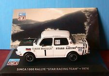 SIMCA 1000 RALLYE STAR RACING TEAM 1974 IXO BRASSEUR