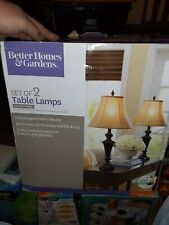 Better Homes & Gardens Set Of 2 Table Lamps Bronze finish