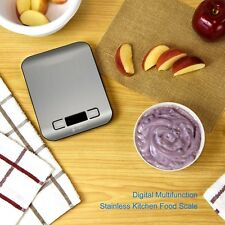 Etekcity Digital Kitchen Scale Multifunction Food Scale, 11 lb 5 kg, Silver, Sta