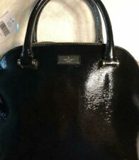 Kate Spade Wkru4701 Carli Bixby Place Black Patent Leather Satchel Hand Bag