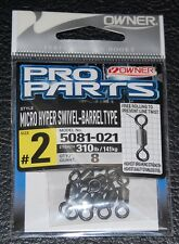 8 Pack Owner Micro Hyper Swivels Barrel Type 5081-021 Size 2 - 310lb Rating