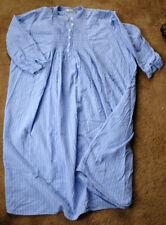 L L BEAN blue flannel night gown size S Pet petite 100% cotton
