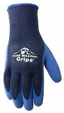 Wells Lamont Cold Weather Work Gloves, 4PK  Knit Shell, Latex Coating, Navy Blue