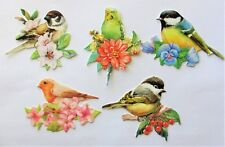 3D Easy Die Cut Card Toppers Birds with Flowers Budgie Assorted Type 2