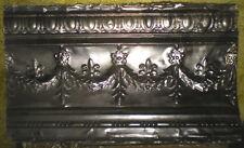 Antique Victorian Ceiling Tin Tile Fleur De Li Swag Flowers Leaves Shaby Chic