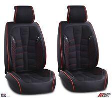 Black PU Leather & Fabric Front Seat Covers For Nissan Navara Qashqai Juke
