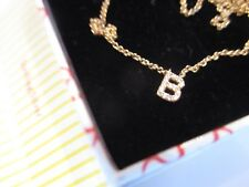 """Sugar Bean Jewelry - """"B"""" Studded Pendant 22-carat Gold Plated Sterling Silver"""