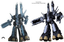 Robotech / Macross Wham Wave 1/5000 SDF-1 - Metellic Black / Blue (1st Edition)