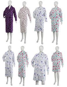 Dressing Gown Slenderella Ladies Hearts or Star Soft Fleecy Nightwear Bathrobe