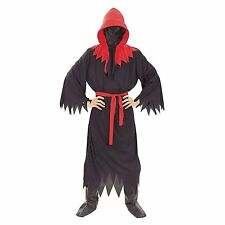 Men's Grim Reaper Halloween Costume One Size Fits Most Black and Red Robe Hood