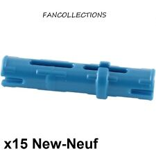LEGO x 15 - Technic - Pin Long bleu/blue - 6558 NEUF