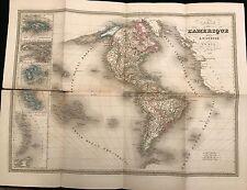 CARTE DE L'AMÉRIQUE 1841