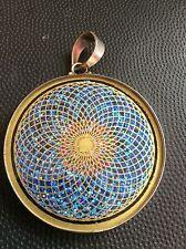 "Sunflower Necklace Tourmaline Gemstone 1 5/8"" Pendant Sterling Silver #Spiritual"