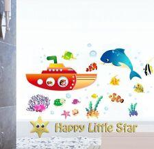 Pesce / submarin / DELFINI Vivaio / Bambini / Ragazzi / Bambini / ragazze adesivo muro