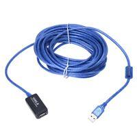1X(10 Meter langes blaues USB 2.0 Verlaengerungskabel Aktive Repeater D7M7)