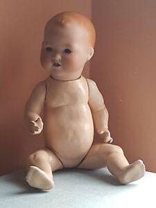 18 inch antique bisque head baby doll German Armand Marseille 351 / 6 K