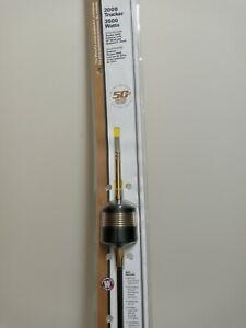 "WWilson Trucker T2000 Gold 50th Anniversary 10"" & 5"" shaft CB Antenna 305200050A"