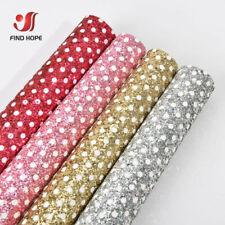 Polka Dot Chunky Glitter Sparkle Faux Leather Fabric For DIY Craft Bow Handmade
