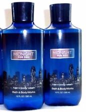 2 Midnight Bath & Body Works Hair + Body Wash 10 Fl Oz ea NEW!