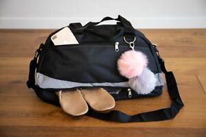 DANCE BAG SPORT GYM UNISEX Silver Reflective - Shoe Compartment + FREE SHOE BAG!