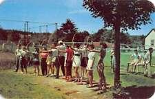 Greenfield Park New York Tamarack Lodge Archery Range Antique Postcard K80723