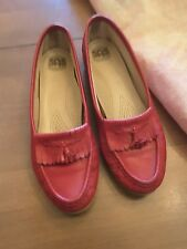 SAS Tripad Women's Comfort Red Kiltie Tassel  Loafers Shoes USA Size 7.5 M