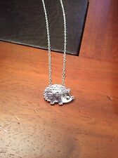 FREE GIFT BAG Silver Plated Hedgehog Animal Necklace Chain Costume Jewellery