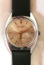 Vintage Favre Leuba Sandow Twin Power Swiss men's watch MINT- #35506