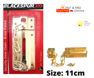 SECURITY DOOR CHAIN Brass Plated HEAVY DUTY Safety Guard Lock Catch With Screws