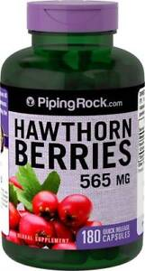 565mg Hawthorn Berry Berries 180 Capsules Heart Health Blood Pressure Support