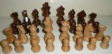 Staunton Jeu d'échecs pièces bois palissandre comme neuf