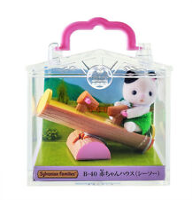 Sylvanian Families Calico Critters Tuxedo Baby Cat & Seesaw