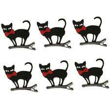 6pcs Wholesale Black Cat Hairpin Kids Baby Girl Hair Clip Barrette Halloween