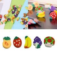 Mini Fruit Shaped Rubber Pencil Eraser Novelty Stationery Children D1B2 G0R K4V5