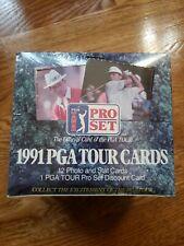 1991 PRO SET GOLF SEALED HOBBY BOX PGA TOUR NEW SEALED 36 PACKS 12 CARDS / PACK