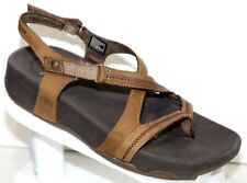 Skechers Tone Up Adjustable  Brown Leather Sport Sandals  Size 9