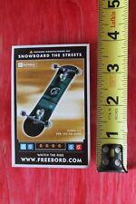 FREEBOARD SNOWBOARDS STREETS - MISC SKATE 2 Vintage Skateboarding Decal STICKER