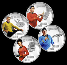 2016 Canada Star Trek Crew Proof $10 Silver 4 Coin Set - Kirk Spock Scotty Uhura