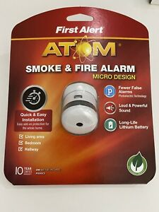 First Alert ATOM Smoke & Fire Alarm Micro Design