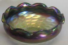 """Large 11.5"""" Kralik Bohemian Art Glass Center Bowl  c. 1900   Nouveau"""